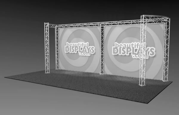 BK9-C2 10' x 20' Truss Kit  (truss hardware & cases only - fabric graphics not included)