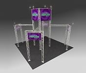 Nimlok® Trilok Aluminum Truss 'Identity Tower' Display Kits