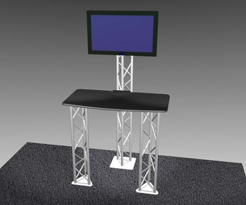 K-1 Truss Kiosk Package (LCD monitor not included)