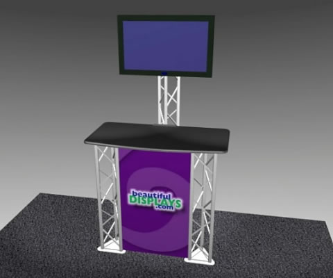 K-1 Truss Kiosk Package (with optional fabric graphic - LCD monitor not included)
