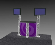 K-2 Truss Kiosk Package with Dye-Sub Fabric Graphics