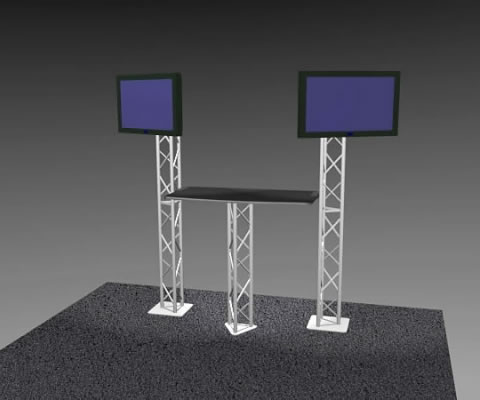 K-2 Truss Kiosk Package (LCD monitors not included)