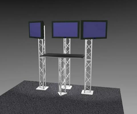 K-3 Truss Kiosk Package (LCD monitors not included)