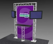K-4 Truss Kiosk Package with Dye-Sub Fabric Graphics