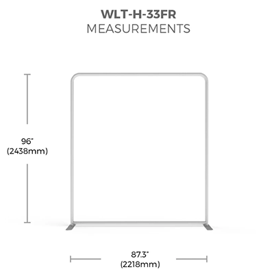 8 ft. WaveLight® Backlit Tension Fabric Display