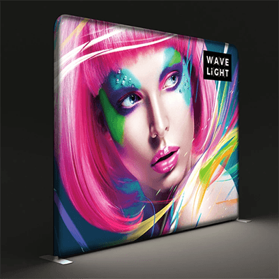 10 ft. WaveLight® Backlit Tension Fabric Display