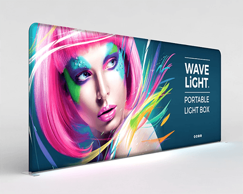 18.5 ft. WaveLight® Backlit Tension Fabric Display