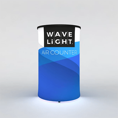 Circular WaveLight Air® Inflatable Backlit Counter