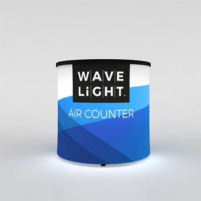 Circular Mini WaveLight Air® Inflatable Backlit Counter