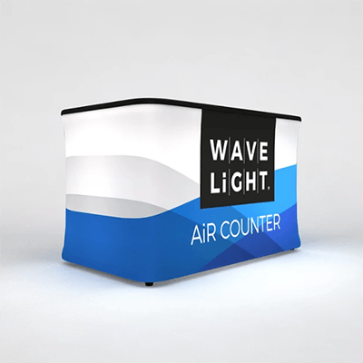 Rectangular Mini WaveLight Air® Inflatable Backlit Counter