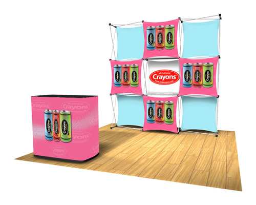 Xpressions EXPRESS B Pop-Up with Carry Case & Podium Kit (Recycled Graphics)
