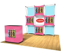Xpressions SNAP™ Fabric Popup Displays