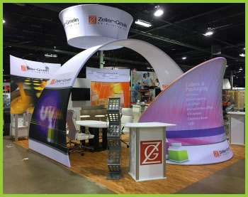 A wide selection of fabric exhibits from beautifulDISPLAYS